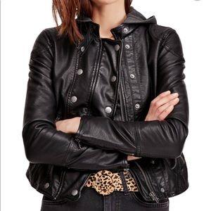 New Freepeople New Dawn Vegan Leather Jacket